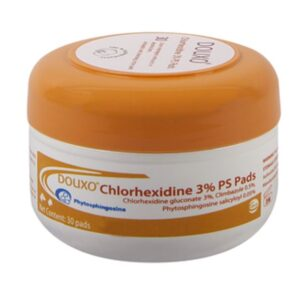 Douxo Chlorhexidine 3% PS Pads for Dogs & Cats, 30 count
