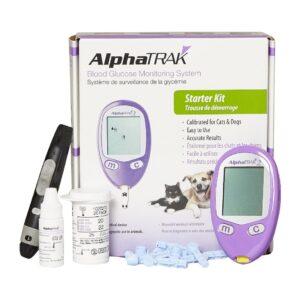 AlphaTRAK 2 Blood Glucose Monitoring System Starter Kit for Dogs & Cats, 25 strips By AlphaTRAK