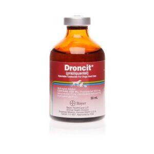 Droncit (Praziquantel) 56.8mg per ml solution for injection