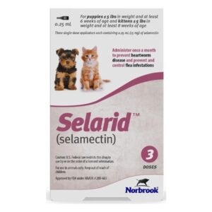 Selarid (selamectin) Topical for puppy and kittens 0-5 lbs 3 ct