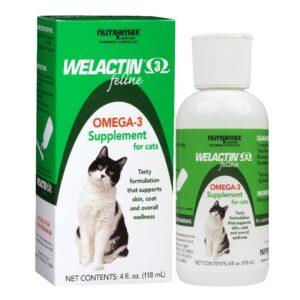 Nutramax Welactin Feline Omega-3 Cat Liquid Supplement, 4-oz bottle