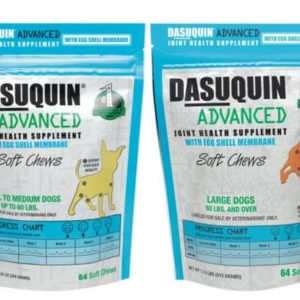 dasuquin advanced soft chews 64ct for small medium large Dog bag with ESM