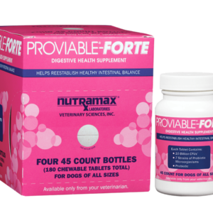 Proviable-Forte Chewable Tablets (Canine) 180 Count carton & bottle